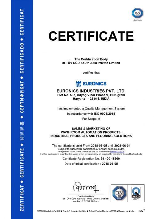 Certificate-EURONICS